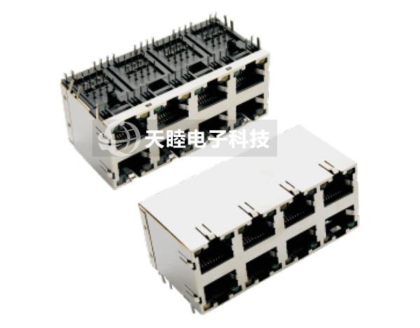 网络插座,rj45jack,双层联体网络插座