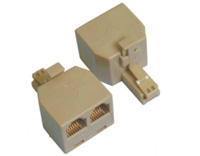 电话转接器,6P公转母电话三通TM-RJ11 RJ45 M TO F DUPLEX ADAPTOR US026(2C 4C 6C 8C)