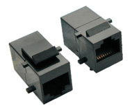 TM-IN LINE COUPLER WITH HOOK 8P8C